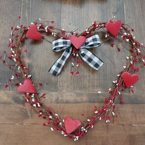❤ Rustic Primitive Heart Wreath